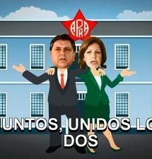 Alan García y Lourdes Flores, 'juntos' en el musical de LNR